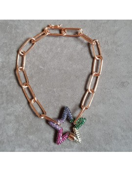 COLORFUL STAR CHAIN SILVER BRACELET