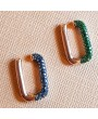 NEW COLOR PASSED COMBINATION SILVER EARRING