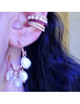 SILVER BAROQUE PEARL EARRING COMBINATION