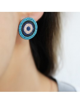 DEVIL EYES SILVER EARRING
