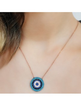 DEVİL EYES SILVER NECKLACE