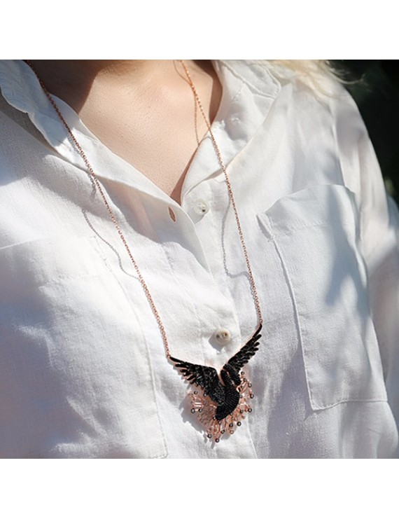 BLACK PHOENIX SILVER NECKLACE