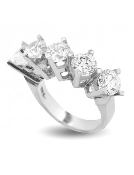 CLASSIC MODEL 5 STONE SILVER RING