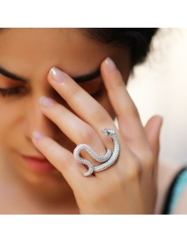 Snake Figured Silver Ring